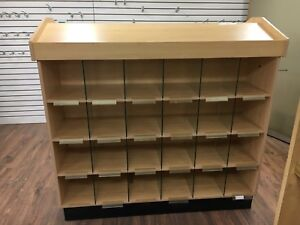 Store display shelves and hooks