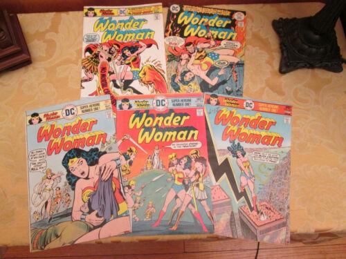 WONDER WOMAN Bronze Age 5 Comics Lot. (Numbers 223, 224, 225,  226, 227) 1976/77
