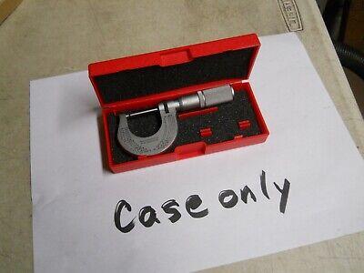 Starrett Micrometer Storage Case 0-1 Micrometer Case 1 Case Only  New