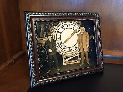 Back to the Future  - Marty & Doc with the Clock Photo Prop Reproduction - Back To The Future Doc