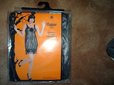 Black Ladies Small 4-6 1920s Flapper Costume Gatsby Dress Up Charleston Outfit - Charleston Dress Up