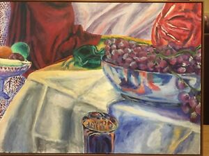 Large still life oil painting