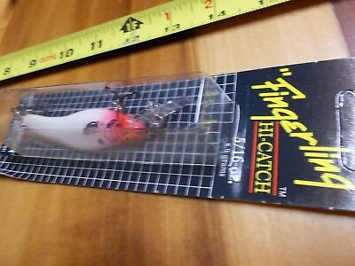 rare vintage Crankbait Corp Fingerling Hi-Catch  Lure white red head lure for sale  Shipping to Nigeria