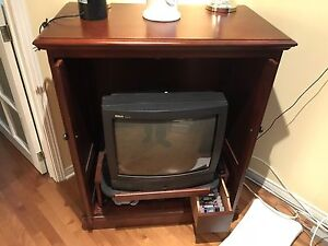 Brown wooden TV Hutch by Hooker Furniture