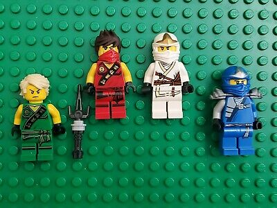 Lego Ninjago  Minifigure Lloyd Jay Zane Kai Lot of 4 Minifigs