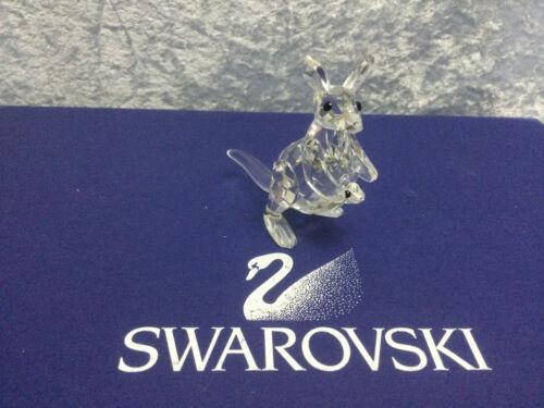 Swarovski Crystal Mother Kangaroo with Baby Joey 7609000001 181756. Retired 2006
