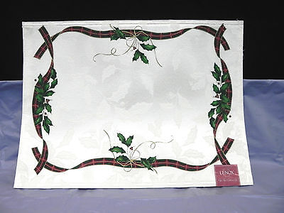 Holiday Novea  Lenox Reversible Placemat W Tags Great Price For Beautiful Mats