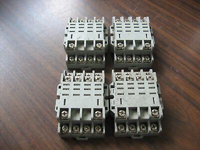 Lot Of 4 Idec Sh4b-05 Cube Relay Bases 14 Pin Square 10a 300v