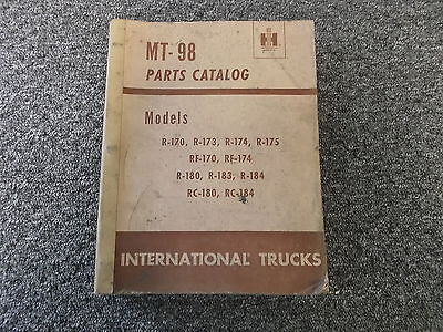 International Harvester R-175 Rf-170 Rf-174 Truck Parts Catalog Manual Manual