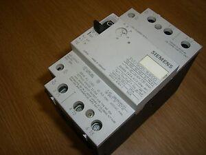 Siemens 3vu1600 1mp00 22 32a manual starter motor for Siemens manual motor starter
