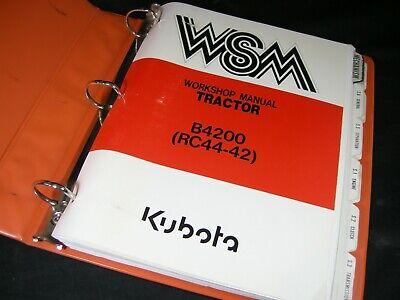 Kubota B4200 Tractor Service Manual With Rc44-42 Mower Deck Workshop Repair Book