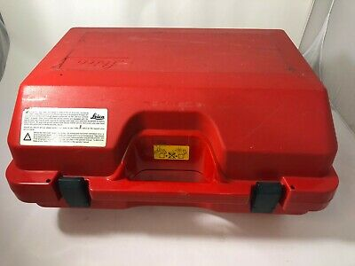 Leica Gps Or Total Station Red Box With Working Black Latches Only