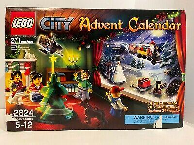 LEGO City Advent Calendar 2824 100% Complete w/ Figures, Box, & Extra Pieces