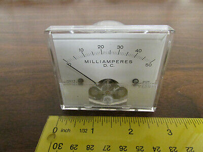 Hoyt D-5227p-1 Panel Meter 0-50 Milliamperes Ma Dc Made In Usa