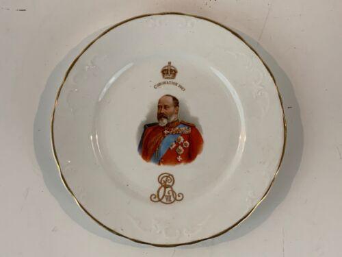 Antique Royal Doulton Porcelain Edward Vii 1902 Coronation Plate