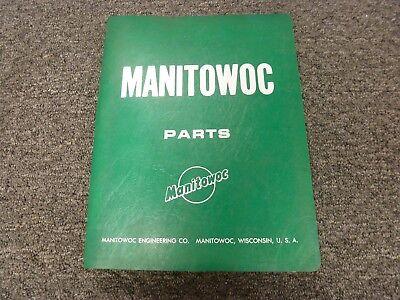 Manitowoc Model 4100w Lattice Boom Ringer Crane Parts Catalog Manual