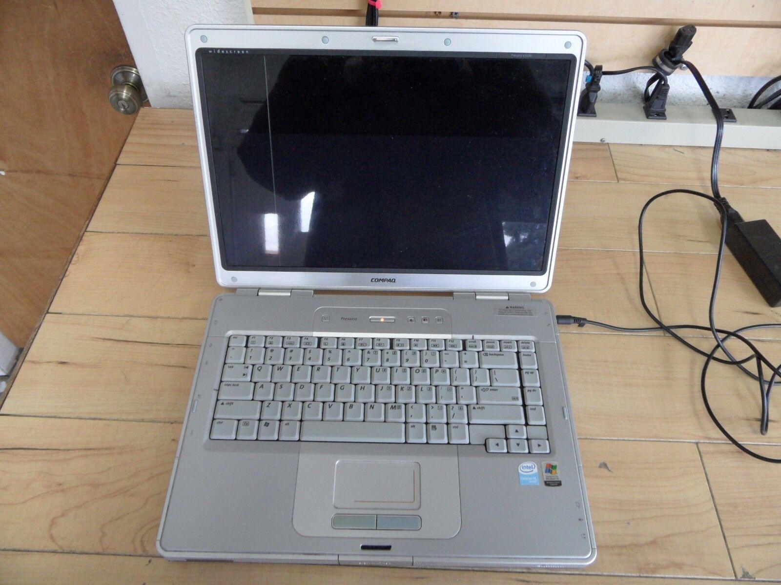 Compaq Presario V5000 Parts Laptop Bad Screen Powered On No Hard Drive