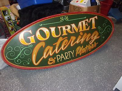 Restaurant Catering Sign Wooden 72 X 30 12 Two Sided