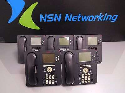 Lot Of 5x Avaya 9650 700383938 9650d01a-1009 Lcd Display Voip Ip Phones Lot B