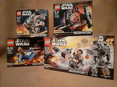LEGO Star Wars - Complete Series 5 Microfighters, 75193, 75194, 75195 & 75196