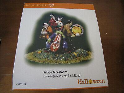 DEPARTMENT 56 Halloween Monsters Rock Band #53245 Village Accessories NIB!