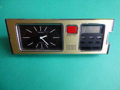 SEIKO SP304F Mid Century Modern DESK Table Office CLOCK Alarm QUARTZ JAPAN