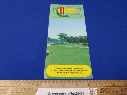 Vintage 1980s Myrtlewood Golf Courses Myrtle Beach South Carolina Brochure Pics