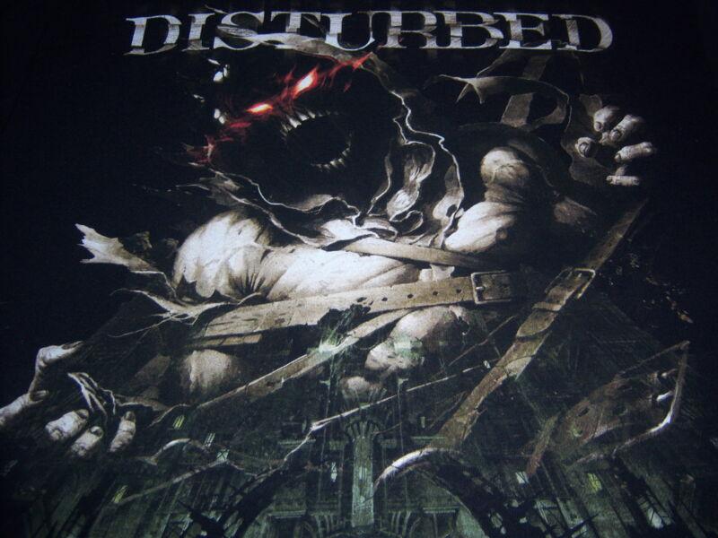 2011 original DISTURBED t shirt - ASYLUM -  mayhem festival - (M)