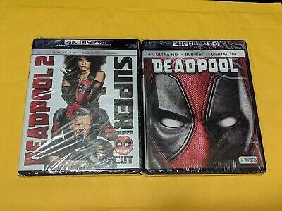 Deadpool 1+ 2 [4K ULTRA HD+BLURAY DISCS ONLY!!] [NO DIGITAL]