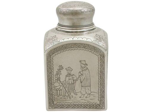 Russian Silver Tea Caddy Antique 1890