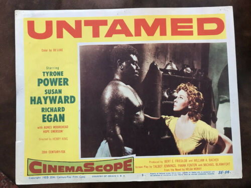 "Untamed 1955 20th Century Fox 11x14"" Black Americana lobby card Paul Thompson"
