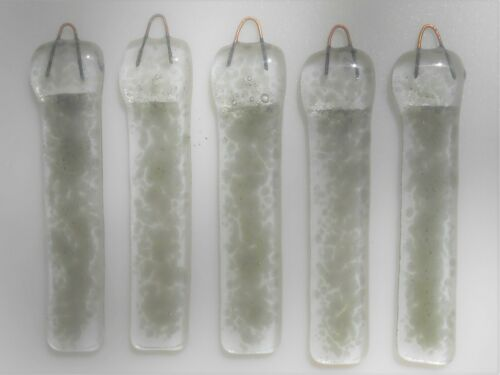 fused stained glass chimes for making your own wind chimes lot of 5