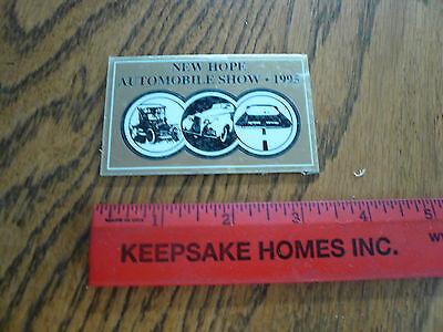 1995 New Hope Automobile Show Car Show Metal Dash Plate