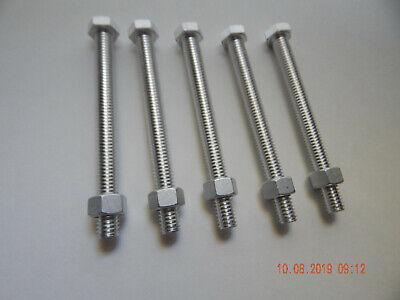 Aluminum Hex Cap Screws 38-16 X 4 With Nuts. 5 Pcs. New