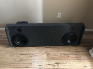 Subs box and amp