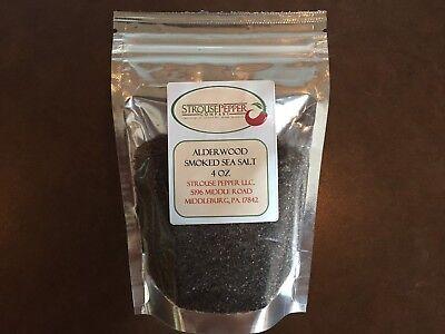 Alderwood Smoked Sea Salt 4 Oz ( Medium Fine Grind (Alder Wood Smoked Salt)