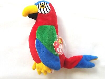 Vintage TY Beanie Baby Jabber Multiple Tag Errors Colorful Parrot MWMT 1997-98 for sale  Wilkes-Barre