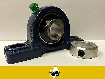 1 Pillow Block Bearing Ucp205-16 Solid Base P205 1 Solid Set Collar