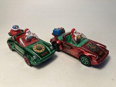 Hot Wheels Porsche 911 SC Targa - loos pair from 1996 Holiday series.
