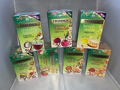 Twinings Enveloped Green Tea (Apple/Ginger/Fudge/Cherry/Caramel/Coconut/Lemon)