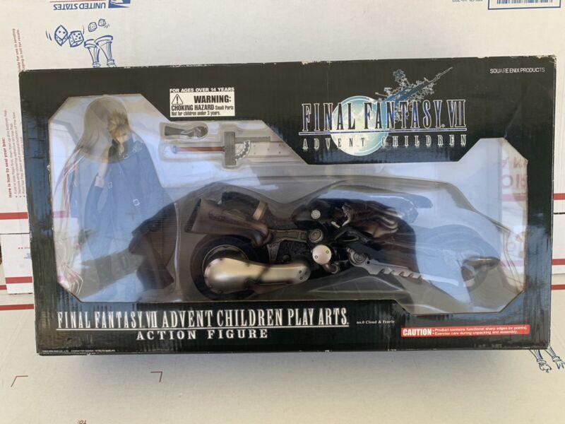 Final Fantasy Advent Children Cloud Strife & Fenrir Motorcycle Action (open box)