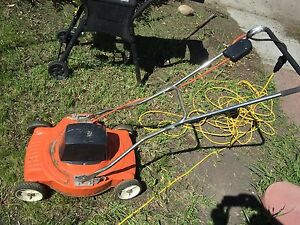 Vintage lawn mower. Text only