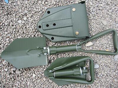 KLAPPSPATEN mit original BW Tasche Bundeswehr Spaten Schaufel Hacke Schüppe