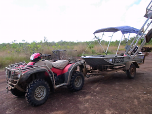 Quad bike, tinnie, outboard and trailer Adelaide River Finniss Area Preview