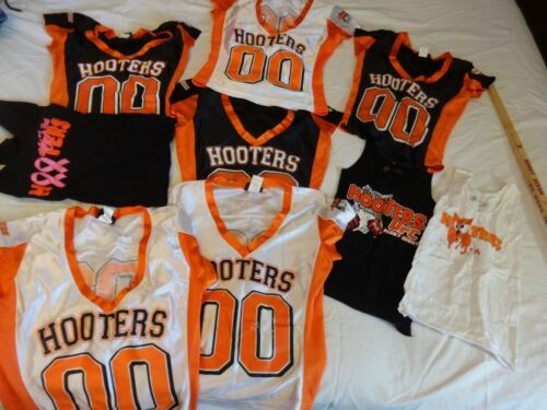 Hooters Jersey and Shirt Lot 9 Piece 3 Black 3 White 3 Tank Top