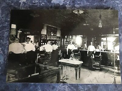 1912 Vintage Barbershop Interior 4 Barbers Large Shop Photo