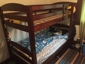 Bunk bed - singles. $50 OBO. No Mattress.