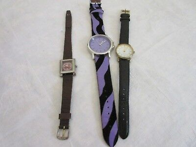 womens LADIES  battery WATCH  x 3 all  WORKING
