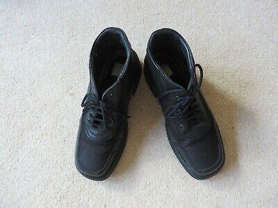 Josef Seibel Black Leather Ankle Boots Size  38 The European Comfort Shoe, V.G.C