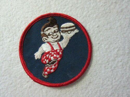 VINTAGE BIG BOY RESTAURANT ADVERTISING EMBROIDERY CLOTH PATCH / HAMBURGER